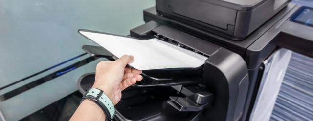 loading paper into multifunction printer