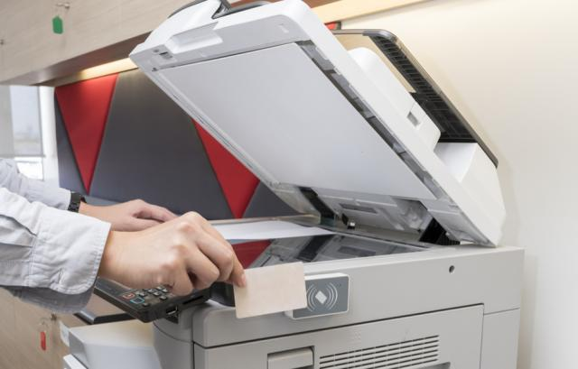 printer with security card